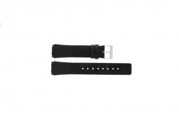 Cinturino per orologio Skagen 331XLSLB / Croc immitation Pelle di coccodrillo Nero 20mm