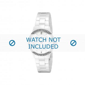 Skagen cinturino dell'orologio 347SSXWC Ceramica Bianco 16mm