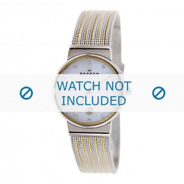 Cinturino per orologio Skagen 355SSGS Acciaio Bi-colore 14mm