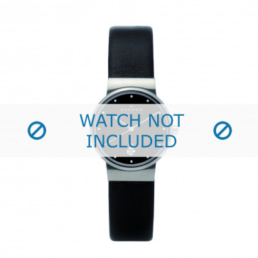 Skagen cinturino orologio 355SSLB Pelle Nero 14mm