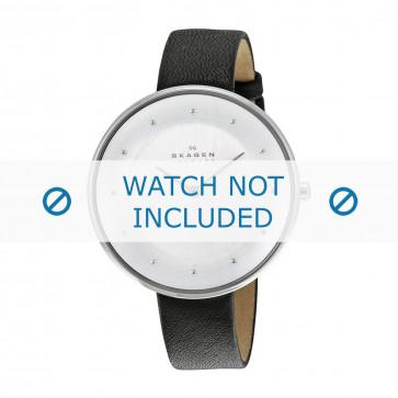 Skagen cinturino dell'orologio SKW2232 Pelle Nero 14mm