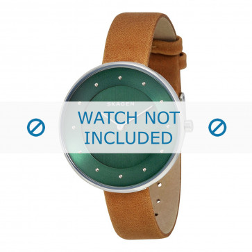 Skagen cinturino dell'orologio SKW2328 Pelle Marrone 14mm