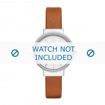 Skagen cinturino dell'orologio SKW2479 Cuoio morbido Cognac 12mm