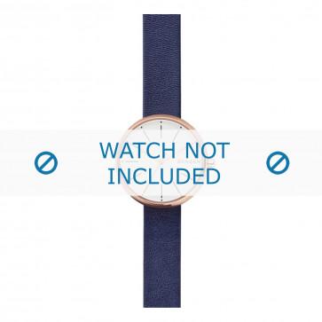 Skagen cinturino dell'orologio SKW2592 Pelle Blu