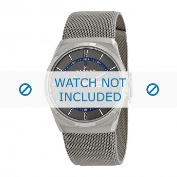 Cinturino per orologio Skagen SKW6078 / 11XXXX Milanese Grigio antracite 11mm