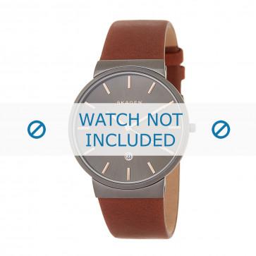 Cinturino per orologio Skagen SKW6202 Pelle Marrone 30mm