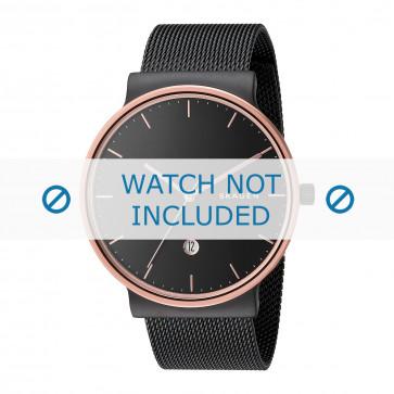 Skagen cinturino dell'orologio SKW6296 Metallo Grigio 20mm