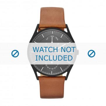 Skagen cinturino dell'orologio SKW6347 Pelle Cognac 22mm