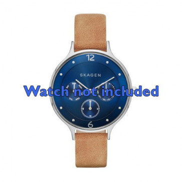 Skagen cinturino orologio SKW2310 Pelle Marrone 14mm