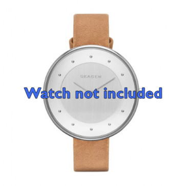 Skagen cinturino orologio SKW2326 Pelle Marrone 14mm