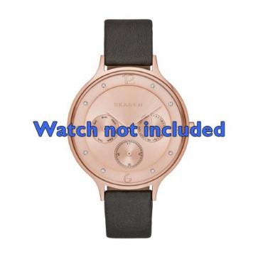 Skagen cinturino dell'orologio SKW2392 Pelle Grigio 14mm