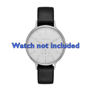 Skagen cinturino orologio SKW2415 Pelle Nero 14mm