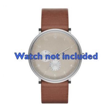 Skagen cinturino orologio SKW6168 Pelle Marrone 20mm
