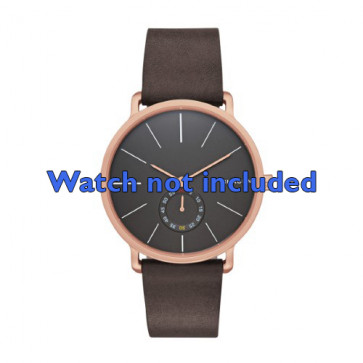 Skagen cinturino orologio SKW6213 Pelle Marrone 20mm