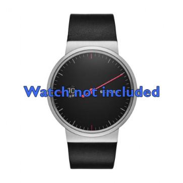 Skagen cinturino orologio SKW6236 Pelle Nero 22mm