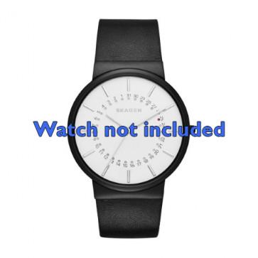 Skagen cinturino orologio SKW6243 Pelle Nero 20mm