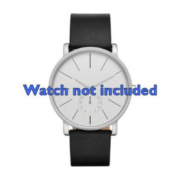 Cinturino per orologio Skagen SKW6274 Pelle Nero 20mm