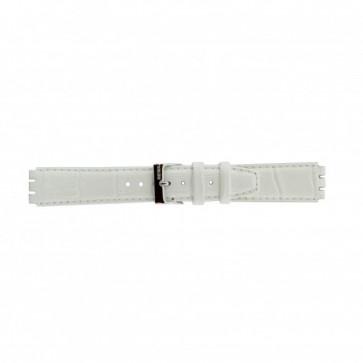 Cinturino per orologio Swatch 21414.11 Pelle Bianco 17mm