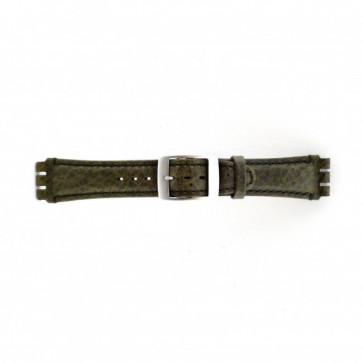 Cinturino per orologio Swatch SC14.11 Pelle Verde 19mm