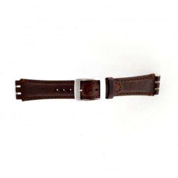 Cinturino per orologio Swatch (alt.) SC14.02 Pelle Marrone 19mm