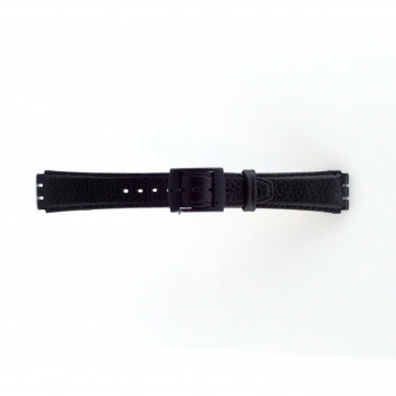 Cinturino per orologio Swatch (alt.) SC04.01 Pelle Nero 17mm