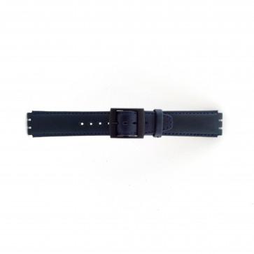 Cinturino orologio per Swatch, blu scuro, 17mm PVK-SC11.05