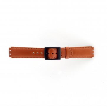 Cinturino per orologio Swatch SC11.03 Pelle Marrone 17mm