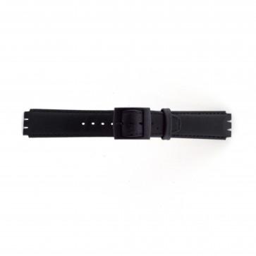Cinturino per orologio Swatch SC11.01 Pelle Nero 17mm