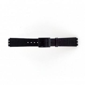 Cinturino per orologio Swatch SC16.01 Pelle Nero 16mm