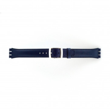 Cinturino orologio per Swatch, blu mare, 19mm
