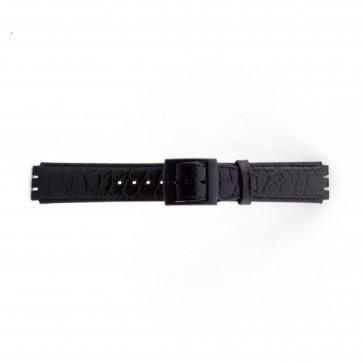 Cinturino per orologio Swatch SC10.01 Pelle Nero 17mm