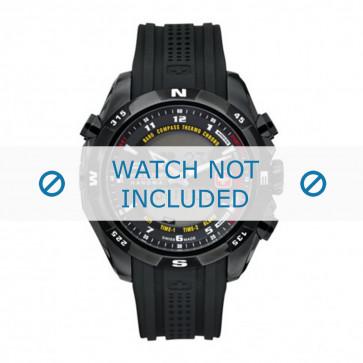 Cinturino per orologio Swiss Military Hanowa 06-4174.13.007 / LOC-7 Gomma Nero 24mm