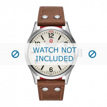 Cinturino per orologio Swiss Military Hanowa 06-4280.04.002.05 Pelle Cognac 22mm