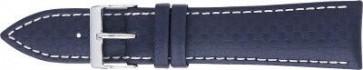 Cinturino orologio in carbonio, blu scuro con cuciture bianche, 24mm PVK-321