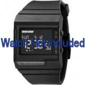 Diesel cinturino dell'orologio DZ7150 Silicone Nero 23mm