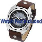 Cinturino per orologio Diesel DZ1197 Pelle Marrone 26mm