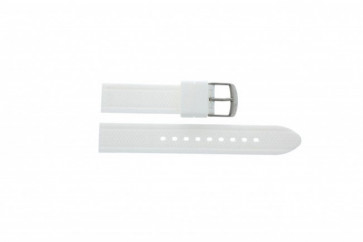 Timex cinturino orologio T2P061 Gomma Bianco 18mm