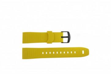 Timex cinturino orologio TW2P44500 Gomma Giallo 22mm