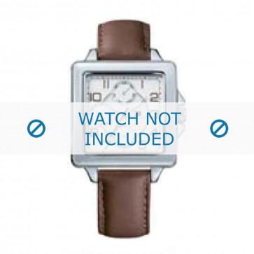 Tommy Hilfiger cinturino dell'orologio TH-65-3-14-0755 / TH679301016 Pelle Marrone + cuciture marrone