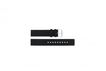 Cinturino per orologio Universale 21901.10.18 / 6826 Silicone Nero 18mm