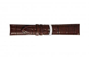 Morellato cinturino dell'orologio Extra X3395656032CR26 / PMX032EXTRA26 Pelle di coccodrillo Marrone scuro 26mm + cuciture di default