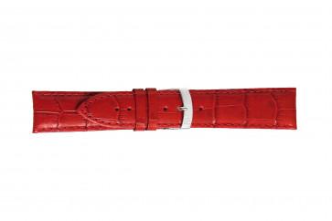 Morellato cinturino dell'orologio Extra X3395656083CR26 / PMX083EXTRA26 Pelle di coccodrillo Rosso 26mm + cuciture di default