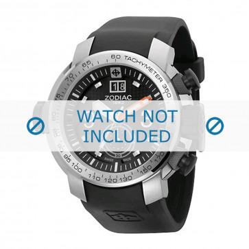 Cinturino per orologio Zodiac ZO8505 Gomma Nero 28mm