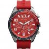 Cinturino per orologio Armani Exchange AX1252 Silicone Rosso 22mm