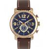Cinturino per orologio Fossil BQ2102 Pelle Marrone 24mm