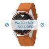 Armani cinturino dell'orologio AR0526 Silicone Arancione 23mm