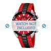 Cinturino per orologio Festina F16664/5 Gomma Rosso 23mm