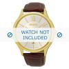 Cinturino per orologio Seiko 7N42-0GG0 / SGEH56P1 Pelle di coccodrillo Marrone 21mm