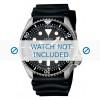 Cinturino per orologio Seiko 7S26-0020 / SKX007K1 / 4FY8JZ / 4D41JZ Gomma Nero 22mm