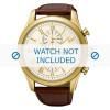 Cinturino per orologio Seiko 7T62-0LJ0 / SNAF72P1 / L0BB012K0 Pelle di coccodrillo Marrone 22mm